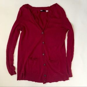 Urban Outfitters BDG Deep Red Cardigan